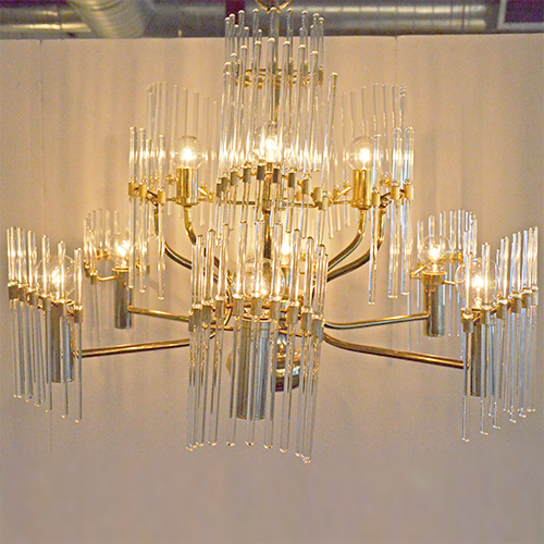 Mrspkandoz sciolari crystal rod and brass chandelier sciolari crystal rod and brass chandelier aloadofball