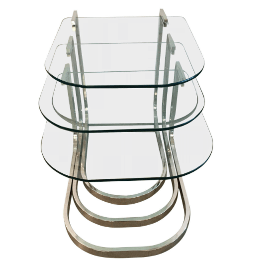 Mrspkandoz dia design institute of america chrome and glass dia design institute of america chrome and glass nesting tables watchthetrailerfo