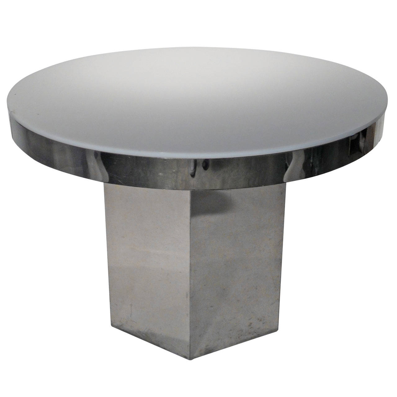 Fabulous Mid Century Modern Chrome Lucite Dining Game Table With Hexagon Base Pabps2019 Chair Design Images Pabps2019Com
